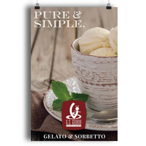 pure and simple gelato poster