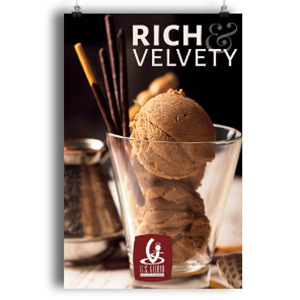 rich and velvety gelato poster