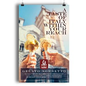 taste of italy gelato sorbet poster