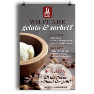 what is gelato poster
