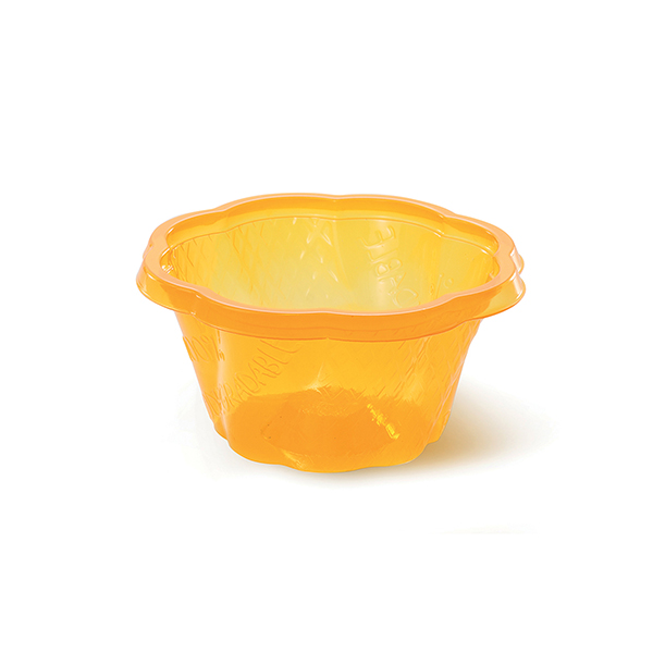 eco gelato cup 4.5 oz orange