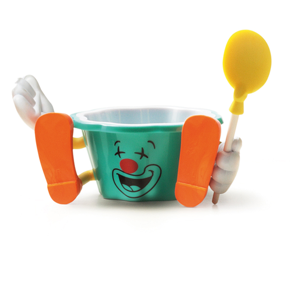 kids clown gelato cup circus cup with spoon