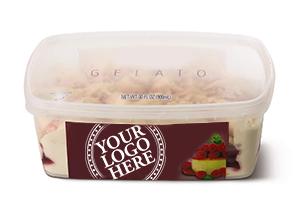 30 fl oz scround italian ice cream gelato retail private label packaging