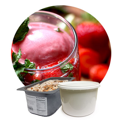 foodservice gelato and sorbet trays and tubs