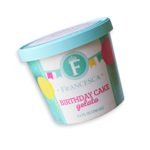 birthday cake gelato single-serve cup