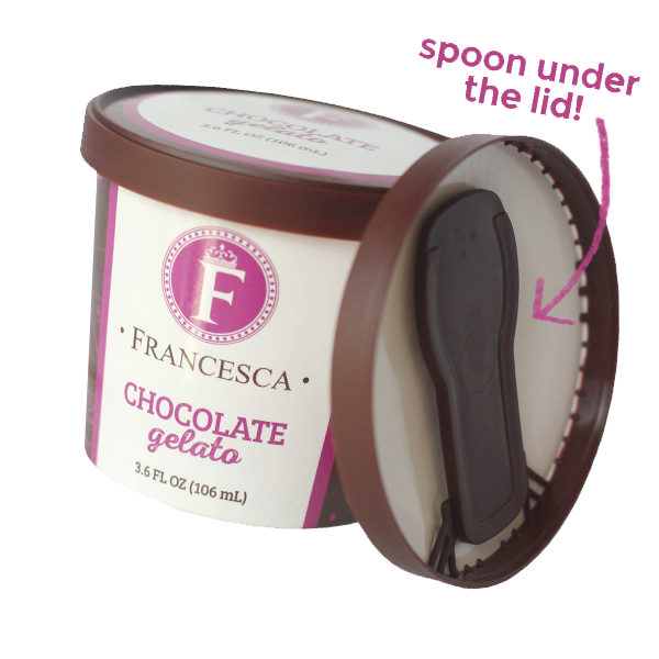 chocolate gelato single-serve cup
