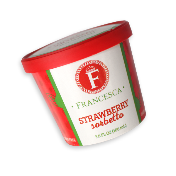 strawberry sorbet single-serve cup