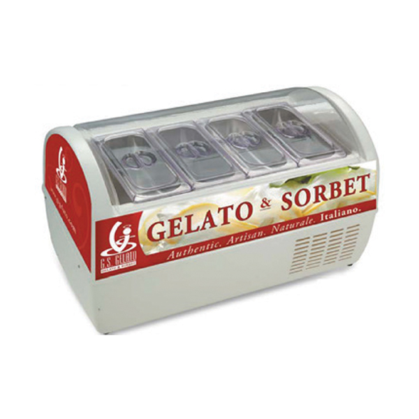 countertop gelato display case