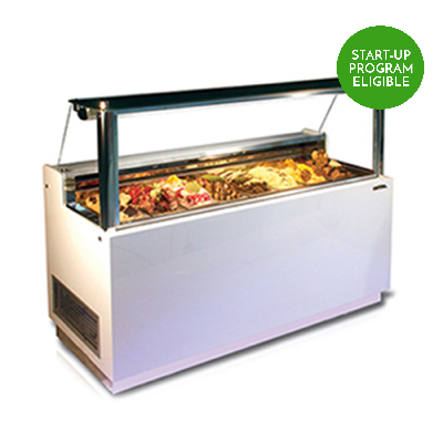 baroque slimline slm 6 8 gelato flavor display case