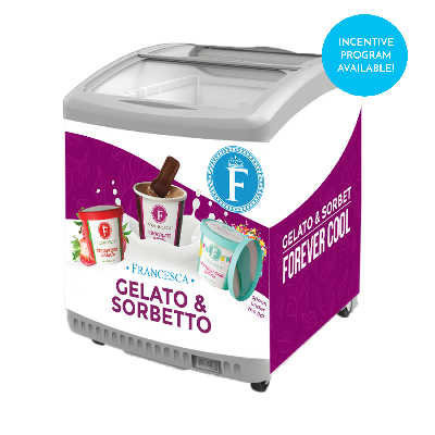 stand-up single-serve gelato freezer