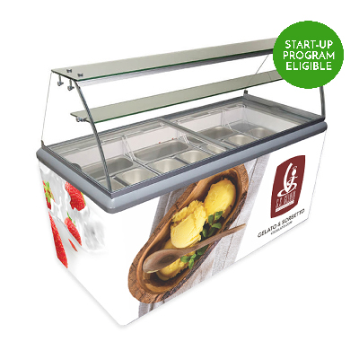 hbg 9 10 flavor gelato display case