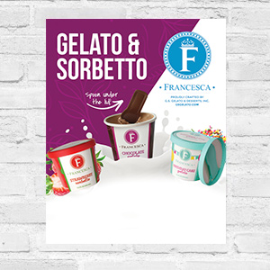 single-serve gelato and sorbet poster