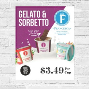 single-serve gelato and sorbet poster customize