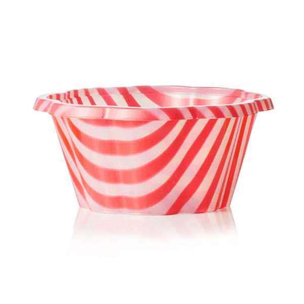 striped gelato to-go cup