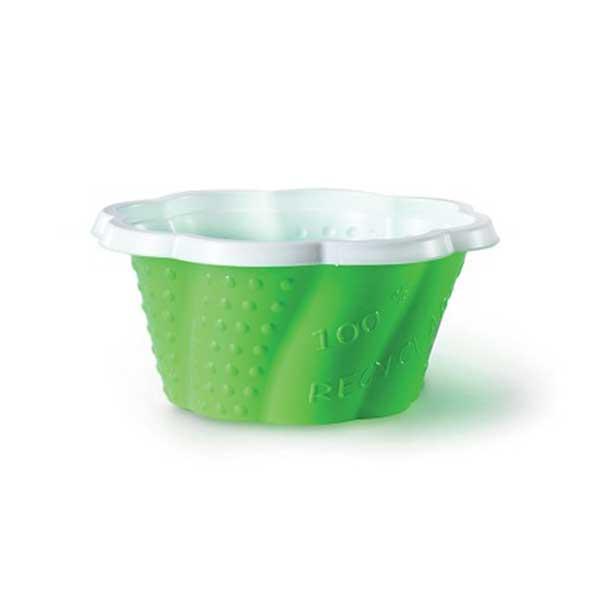 gelato to-go cup medium solid green